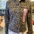 Nine West Jackets & Coats | Leopard Print Denim Jacket By Nine West | Color: Tan | Size: S