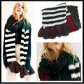 Free People Accessories | Free People Nova Tassel Scarf In Color Autumn | Color: Green/Red | Size: Os