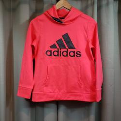 Adidas Shirts & Tops   Adidas Youth Bright Red Orange Logo Hoodie   Color: Orange/Pink   Size: Youth - 14