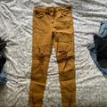 American Eagle Outfitters Jeans   Ae Hi-Rise Jegging Mustard Skinny Jean   Color: Yellow   Size: 10