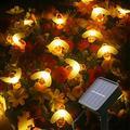 Mankinlu Bee Solar String Lights Outdoor,50 LED 23 FT 8 Modes Waterproof Solar Lights Outdoor String, Solar Powered String Lights Fairy Lights String for Christmas Yard Garden Decotation Warm White