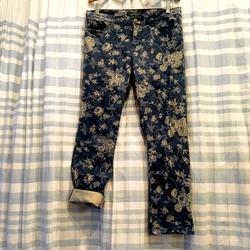 Ralph Lauren Jeans | Bogo Ralph Lauren Lrl Jeans Floral Denim Jeans | Color: Blue/Gray | Size: 8