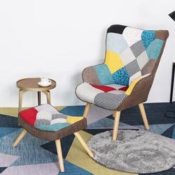 "George Oliver Daraksha 30"" W Lounge Chair Linen/Linen Blend in Brown/White, Size 38.0 H x 30.0 W x 26.8 D in   Wayfair"