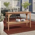 Birch Lane™ Summerton Teak Buffet & Console Table Wood in Brown/White, Size 30.0 H x 47.25 W x 16.0 D in   Wayfair C5C707D1F53A417D80C4E4ED53D583A2