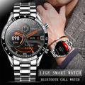 LIGE – montre connectée pour hommes, bracelet en acier, moniteur d'activité physique, de fréquence