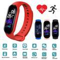 Bracelet connecté M5 pour hommes et femmes, moniteur d'activité physique, fréquence cardiaque,