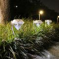 Solar Lights Outdoor Decorative,4 Pack Outdoor Solar Lights, White Light,Solar Lights Outdoor Garden,Garden Solar Lights, Landscape Lights for Garden Path Walkway Patio Lawn Outdoor 4 Pack