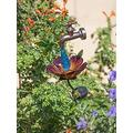Solar Faucet Garden Stake with Hummingbird, Water Drop Solar Faucet Light That Will Glow, Solar Yard Stake Light Outdoor Waterproof Ornament Decor for Pathway Lawn (A)