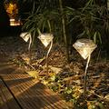 Solar Lights Outdoor Decorative,Outdoor Solar Lights Warm White Light,Solar Lights Outdoor Garden,Garden Solar Lights, Landscape Lights for Garden Path Walkway Patio Lawn Outdoor, 4 Pack