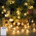 Battery Powered Globe Fairy String Lights, 34Ft 50-LED Waterproof Crystal Globe String Lights, 8 Modes Indoor/Outdoor Lights Decoration for Home, Party, Patio, Window, Wall, Holidays (2 Pack)