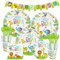 Jungle Animal Birthday Party Set, Children's Birthday Baby Show Party Decoration, Baptism Supplies