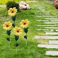 Sunflower Solar Garden Lights Outdoor Decorative,Solar Lights Outdoor Garden,Automatic Charging Solar Garden Stake Lights,LED Solar Landscape Lighting for Garden, Patio Lawn Path