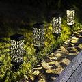 Solar Garden Light, Outdoor 4 Pieces LED Solar Garden Lights Waterproof Garden Decoration Solar Lights Warm White Decoration Light for Garden Path Yard (Color : Warmwhite)