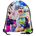 Drawstring Backpack splatoon 3 Gym Bag Water Resistant Foldable Adjustable Drawstring for Men Women