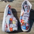 Nike Shoes   2019 Nike Blazer Mid 'Patchwork' B-Ball Sneakers   Color: Red/White   Size: 11
