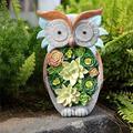 Garden Statues - Resin Solar Owl Figurines Outdoor Garden Clearance Statues, Solar Powered LED Lights Waterproof Statue,Housewarming Indoor OR Outdoor Decorations garden lawn yard art decoration (Owl)