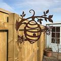 Alexsix Beehive Garden Decoration, Bumble Bee Steel Tree Branch Beehive Decoration Cute Hollowed Out Garden Hive Statue Steel Silhouette for Home Decor, Happy Bee Day Easter Yard Signs Outdoor Ornament