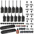 12 x Motorola RDU4100 RDX Business Series Two-Way UHF Radio (Black) (RDU4100) + 2 x Motorola 6 Bank Charger + 12 x HKLN4606 Remote Speaker Mic + Mic Sanitizer Spray + More - 12 Pack with Mics Bundle