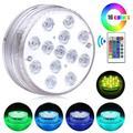 16 couleurs RVB Lumière Submersible avec Aimant 13 LED Sous-Marine Lumière de Nuit Lumière De