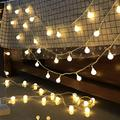 Venhoy String Lights Led Spherical String, Curtain Light, Fairy String, Star String, Solar Light, Garden, Patio, Wedding, Party, Christmas (Color : Battery Powered, Size : 1.5m)