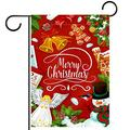 NOAON Garden Yard Flag 28x40 inch Double Sided Christmas Bell Flower Star Gift Vertical Yard Outdoor Decor
