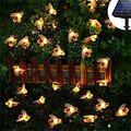 Venhoy String Lights Solar Bee Shape String Light Solar String Light Curtain Light,Fairy String Light, Starry String Lights, Garden, Patio, Wedding, Party, Christmas (Size : 50 Lights)
