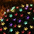 Venhoy String Lights Sakura Shape Color Solar 50LED Light String, Solar String Lights, Curtain Light, Fairy String Light, Starry String Lights, Garden, Patio, Home, Wedding, Party, Christmas