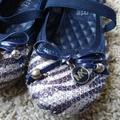 Michael Kors Shoes | Girl'S Toddler Michael Kors Sequence Ballet Flats | Color: Blue/Silver | Size: 10g