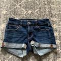 American Eagle Outfitters Shorts | Ae Next Level High-Waisted Demin Short Short | Color: Blue | Size: 00