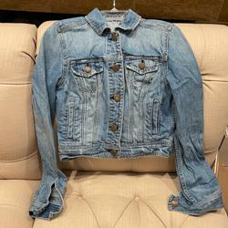 American Eagle Outfitters Jackets & Coats | American Eagle Women'S Cropped Denim Jean Jacket | Color: Blue | Size: Sp