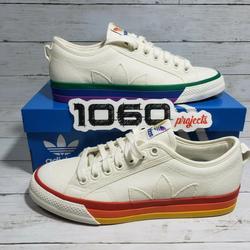 Adidas Shoes | Adidas Originals Nizza Pride Lgbtq Casual Shoes | Color: White | Size: 8.5