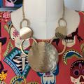 Anthropologie Jewelry   Anthropologie Hammered Gold Metal Collar Necklace   Color: Gold   Size: Os
