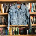 Levi's Jackets & Coats | Levis Light Wash Denim Jean Jacket Size Xl | Color: Blue/Silver | Size: Xl