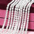 YANRUO – pierres de cristal cristal blanc 10 mètres, strass à coudre, chaîne griffe argent, strass