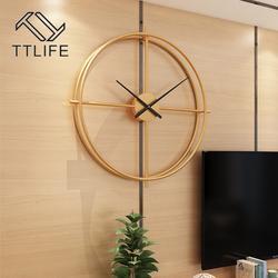 Horloge murale Vintage en métal, Design moderne, décoration pour la maison, le bureau, montres