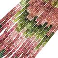 """Natural Multi Tourmaline Micro Faceted Rondelle Beads Natural Tourmaline Rondelle Beads Tourmaline Gemstone Beads Size: 4mm (Approx)16"""" Inches Strand"""