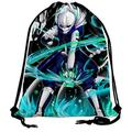Drawstring Backpack Un-dertale-Sa-ns Gym Bag Water Resistant Foldable Adjustable Drawstring for Men Women
