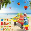 coersd Childrens Sand Water Table Toy Set, Multifunctional Summer Outdoor Sandpit Water Table Beach Toy, Summer Outdoor Toy for Boys Girls, Sand Water Beach Play Toy Kit Molds Beach Sand Toy Set