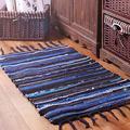 Sysyrqcer Hand-Woven Tassel Carpet Northern Europe Bedroom Carpet Cotton Linen Kitchen Mats Bathroom Doormat Absorbent Rug Area Rug (Color : B, Size : 60×90cm)