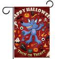 YATELI Garden Yard Flag 28x40 inch Halloween Skull Lantern bat Double-Sided Banner for House Home Outdoor Party Decor