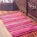 Sysyrqcer Hand-Woven Tassel Carpet Northern Europe Bedroom Carpet Cotton Linen Kitchen Mats Bathroom Doormat Absorbent Rug Area Rug (Color : C, Size : 60×120cm)