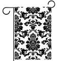 YATELI Garden Yard Flag 28x40 inch Black and White Flowers Wall Paper Double-Sided Banner for House Home Outdoor Party Decor