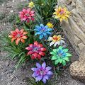 Metal Flower Garden Decor Stakes,Plant Picking Waterproof Floral Flower Stakes Spring Outdoor Colorful Personalities Art Ornament Garden Metal Stake Décor for Lawn Yard Patio