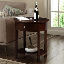 Alcott Hill® Moravian End Table w/ Storage Wood in Brown, Size 24.0 H x 24.0 W x 20.0 D in | Wayfair ALTH5192 43998665
