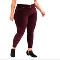 Torrid Jeans   Nwt Torrid Stretch High Rise Jeggings Jeans Velvet   Color: Red   Size: 22