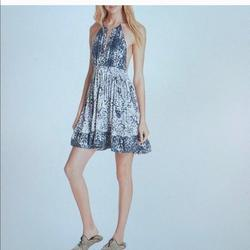 Free People Dresses | Free People Sun Dress Or Swimsuit Cover Up Medium | Color: Blue | Size: M