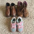 American Eagle Outfitters Shoes   3 Pairs Cute Girl Booties & Sneaker   Color: Brown/Pink   Size: 8g
