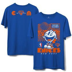 Men's Junk Food Royal New York Knicks NBA x Pac Man High Score T-Shirt