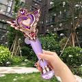 Bubble Machine for Kids, Automatic Electric Toys for Girls Princess Bubble Wand Maker Machine Blower, Musical & Light Up Bubble Toy for Toddlers Outdoor, 2+ Year Old Girl Gifts Toy, Purple