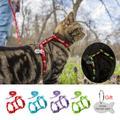 Harnais réfléchissant en Nylon pour chat, chiot, 4 couleurs, laisse, ensemble de plomb, gilet de